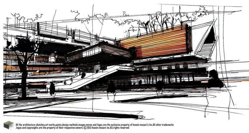 045建築設計師手稿作品
