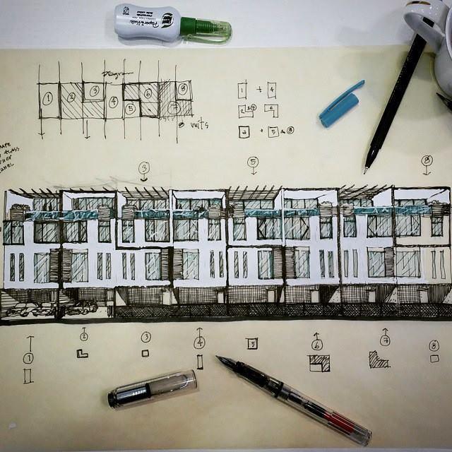 061建築設計師手稿作品