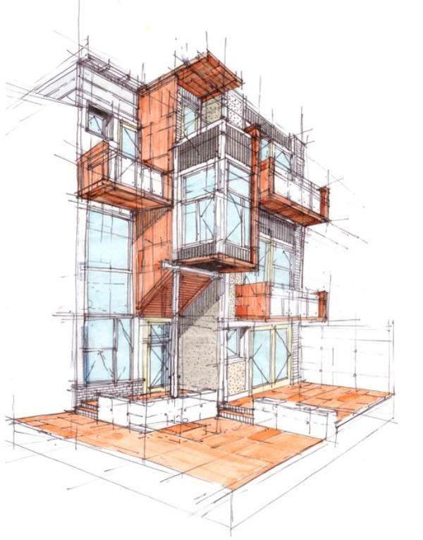 069建築設計師手稿作品