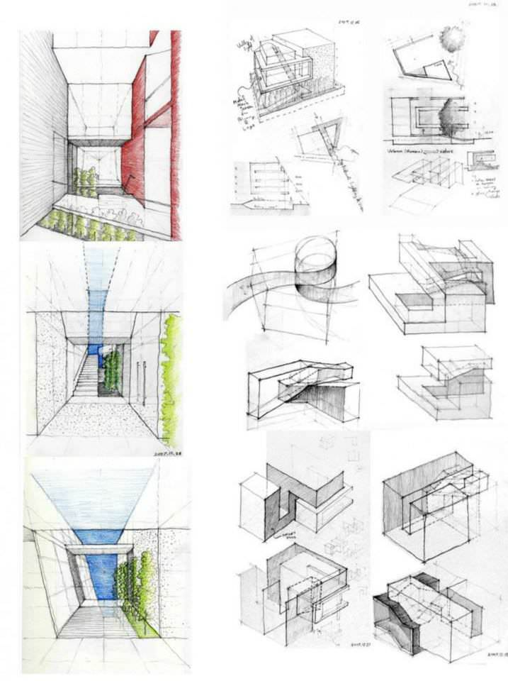 076建築設計師手稿作品