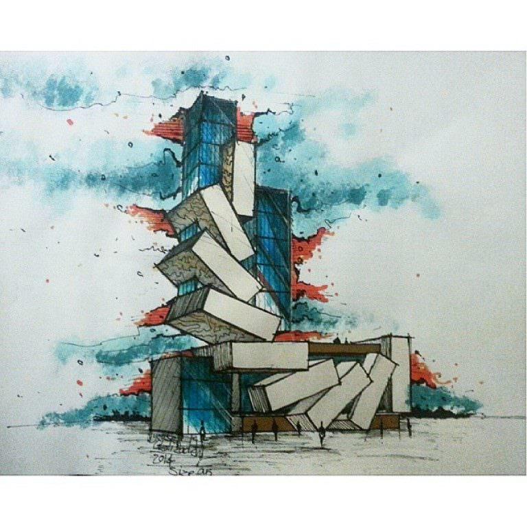 079建築設計師手稿作品