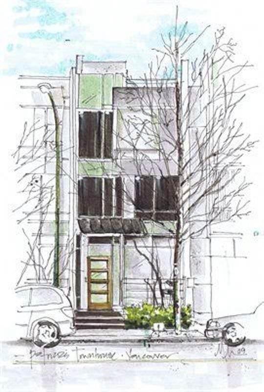 081建築設計師手稿作品