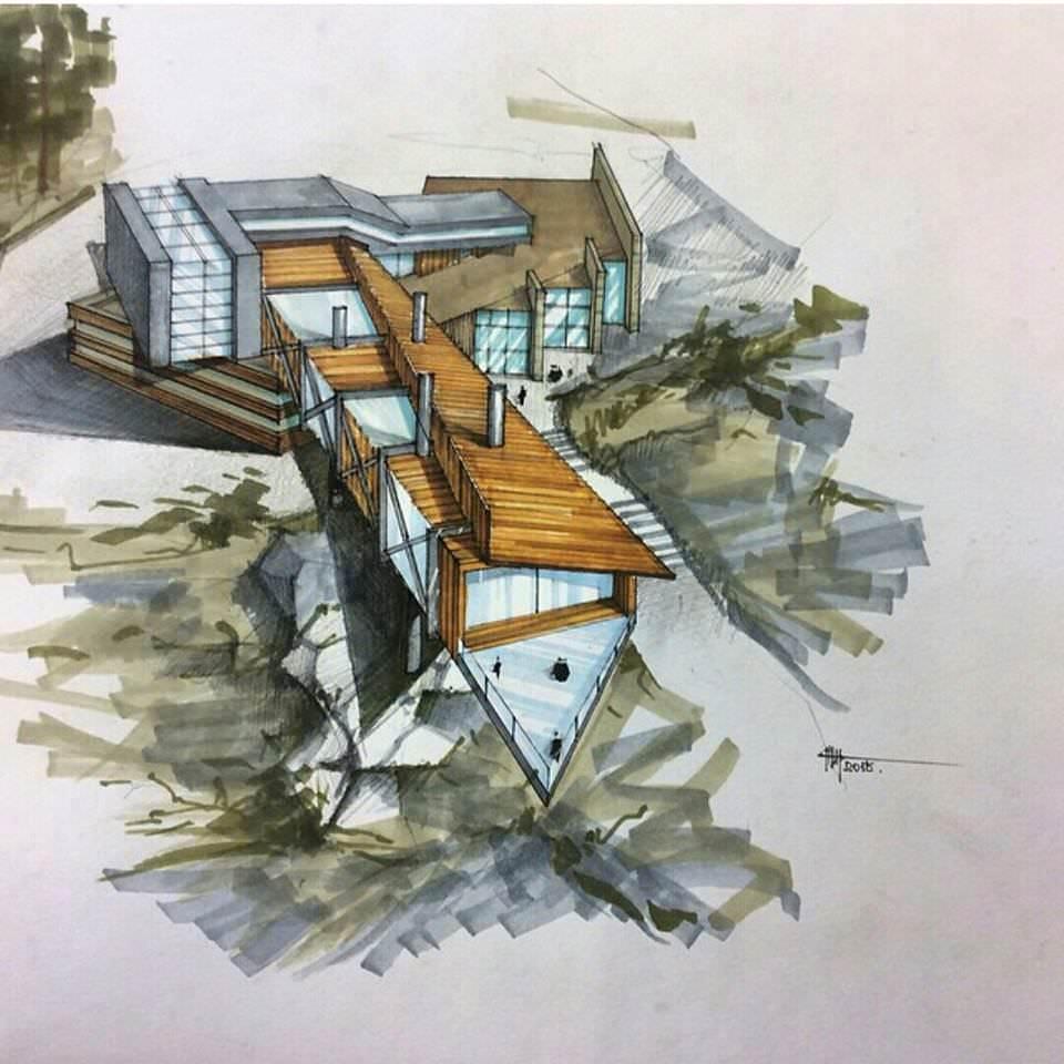 087建築設計師手稿作品