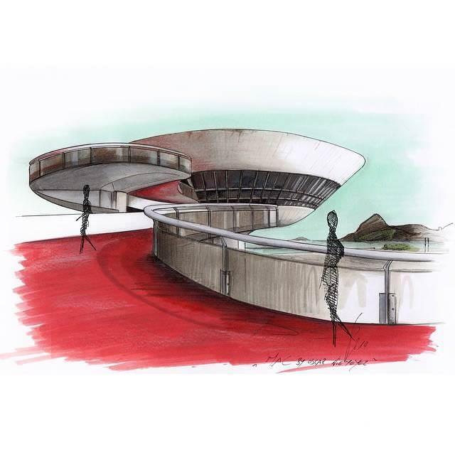 100建築設計師手稿作品