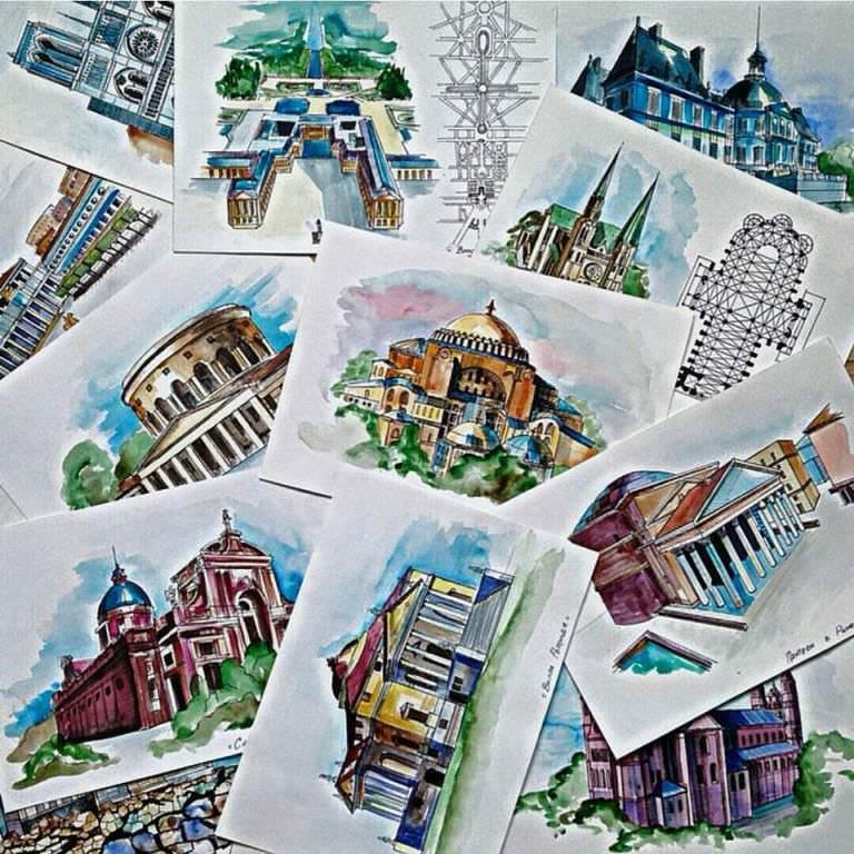 111建築設計師手稿作品