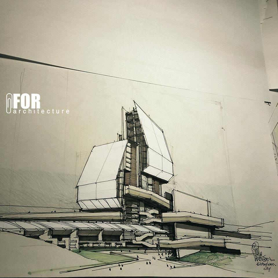 113建築設計師手稿作品