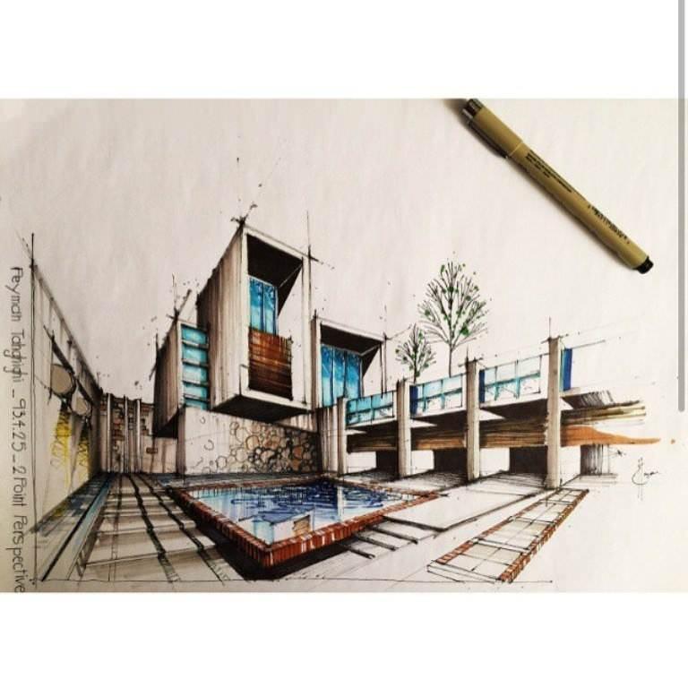 119建築設計師手稿作品