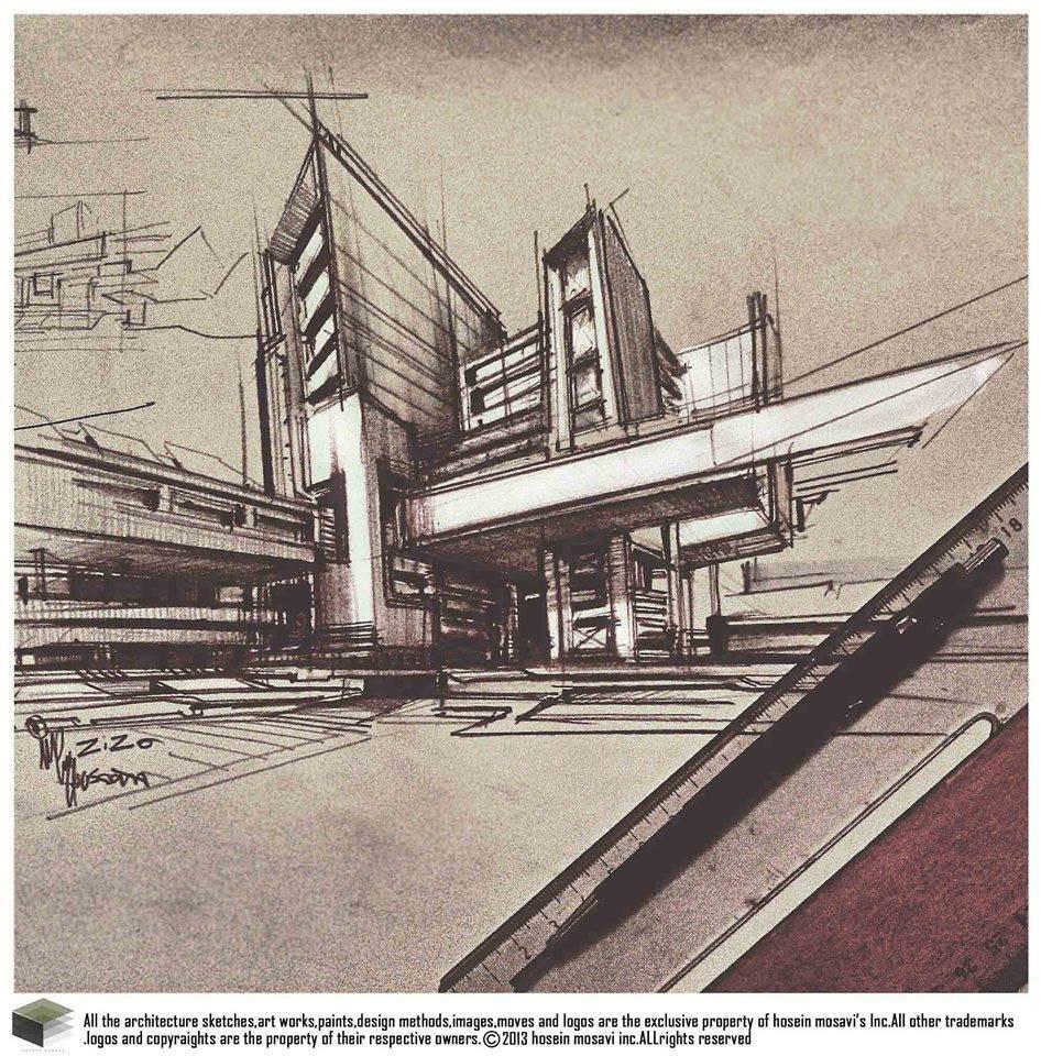 135建築設計師手稿作品