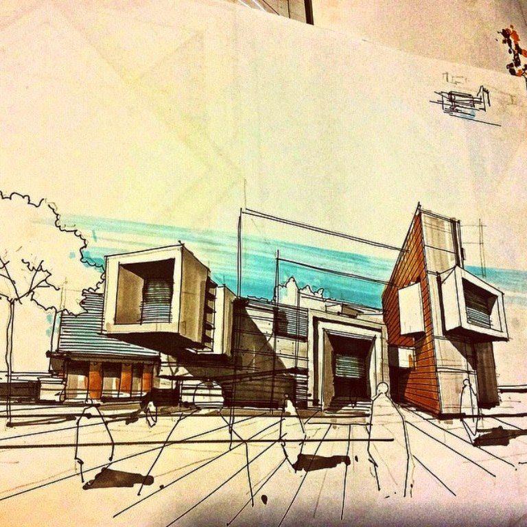 143建築設計師手稿作品