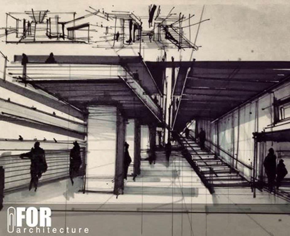 154建築設計師手稿作品