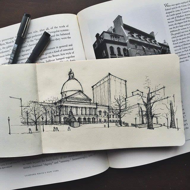 159建築設計師手稿作品