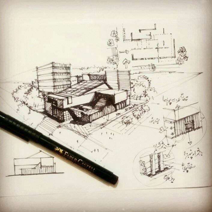165建築設計師手稿作品