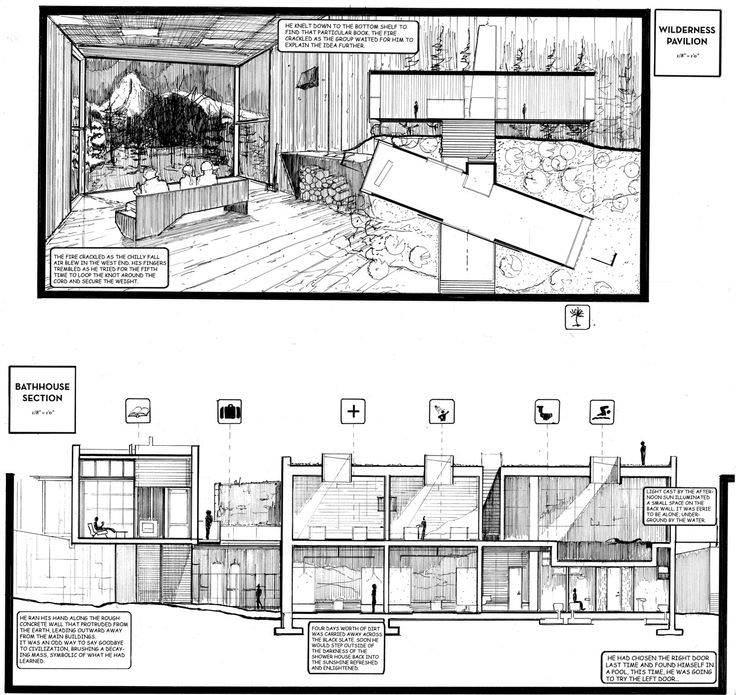 167建築設計師手稿作品