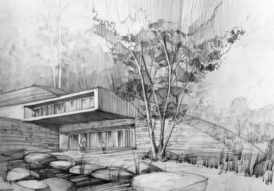 197建築設計師手稿作品