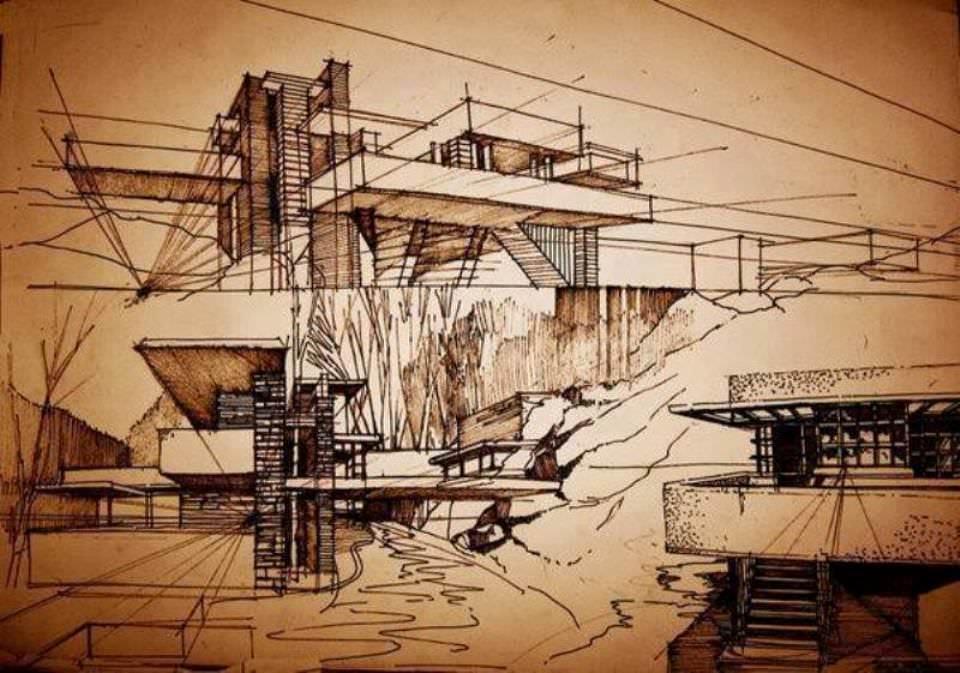 206建築設計師手稿作品