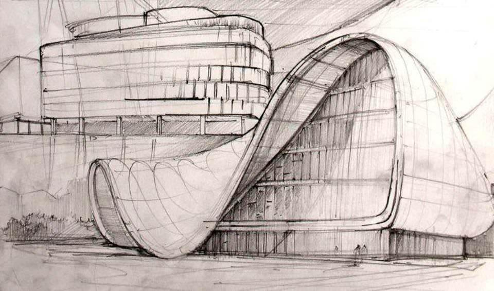 208建築設計師手稿作品