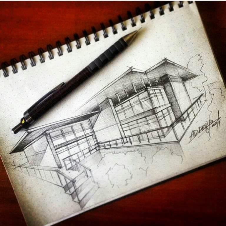 209建築設計師手稿作品