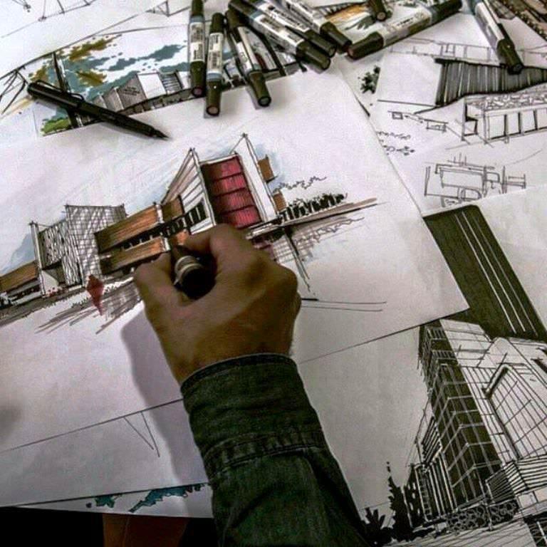 210建築設計師手稿作品