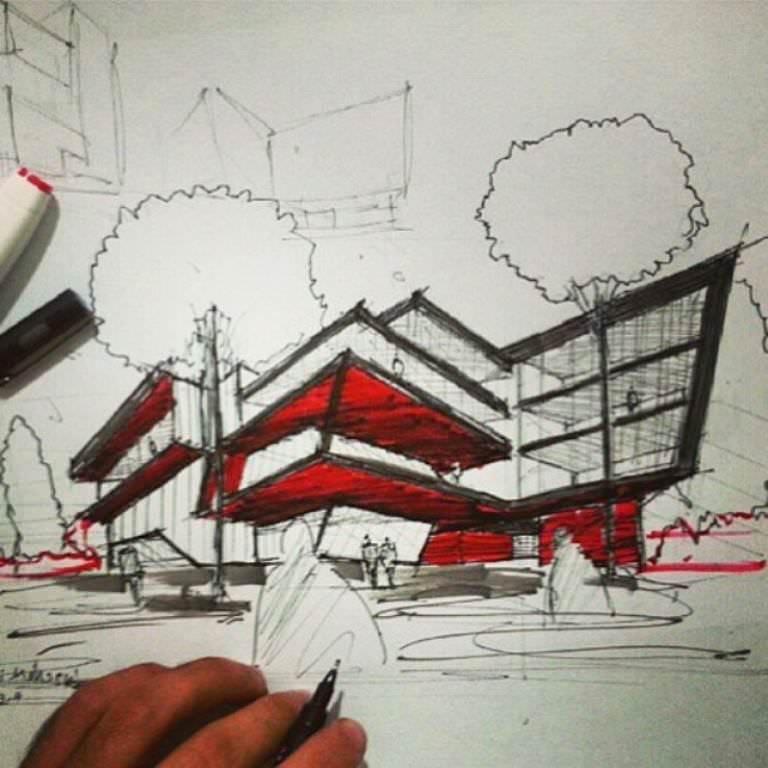 218建築設計師手稿作品