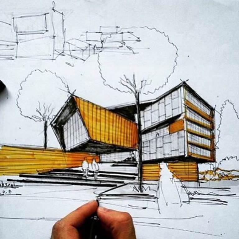 219建築設計師手稿作品