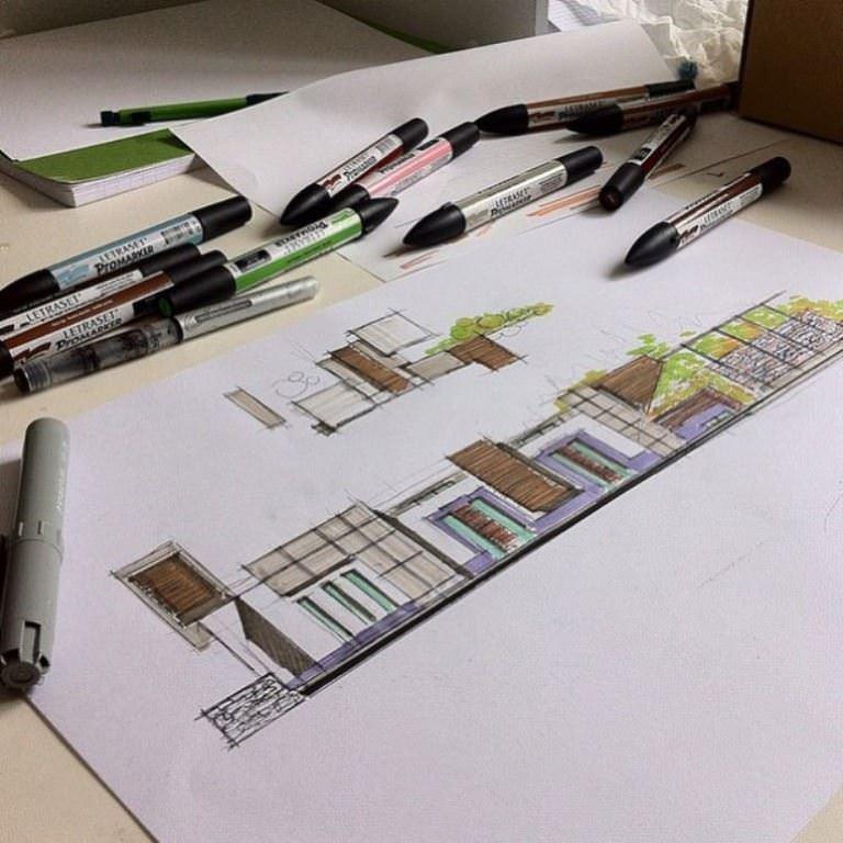 295建築設計師手稿作品