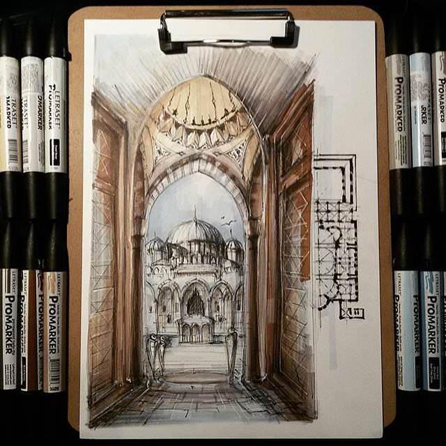305建築設計師手稿作品