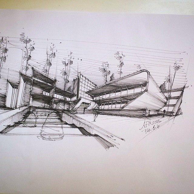 315建築設計師手稿作品