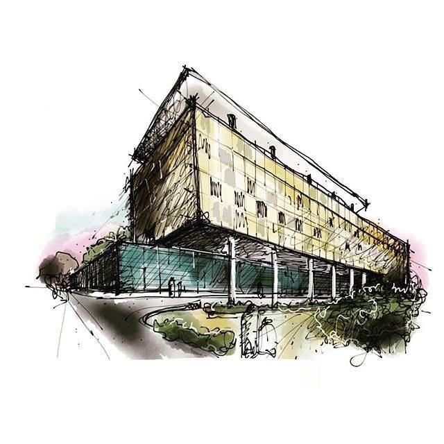 318建築設計師手稿作品