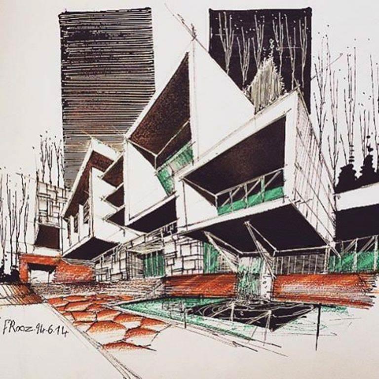 346建築設計師手稿作品