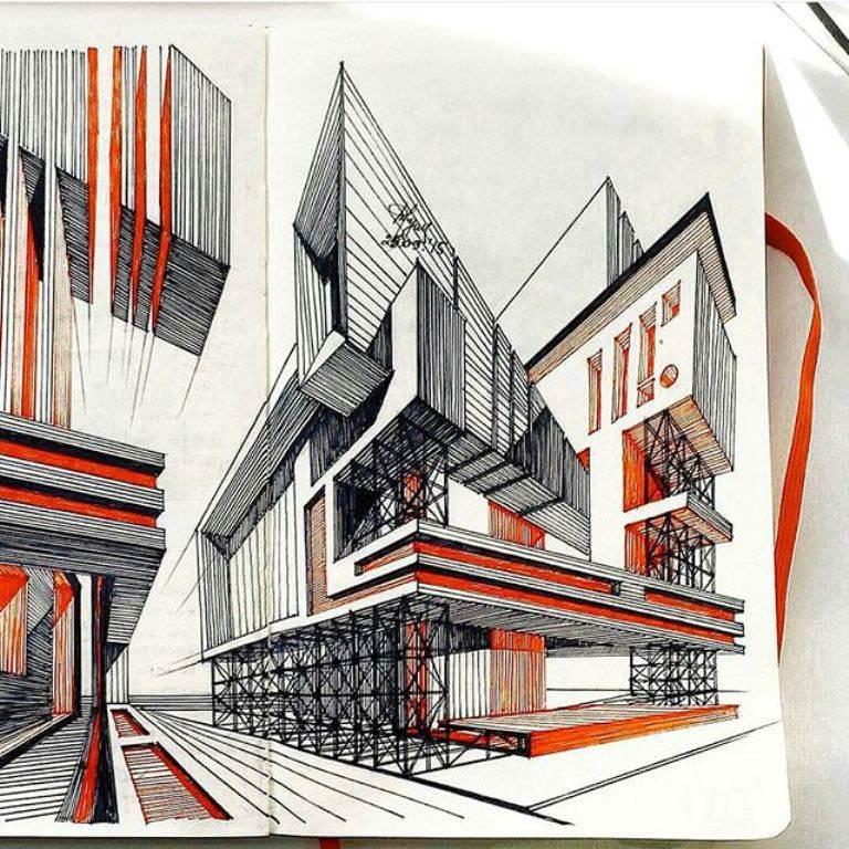 356建築設計師手稿作品
