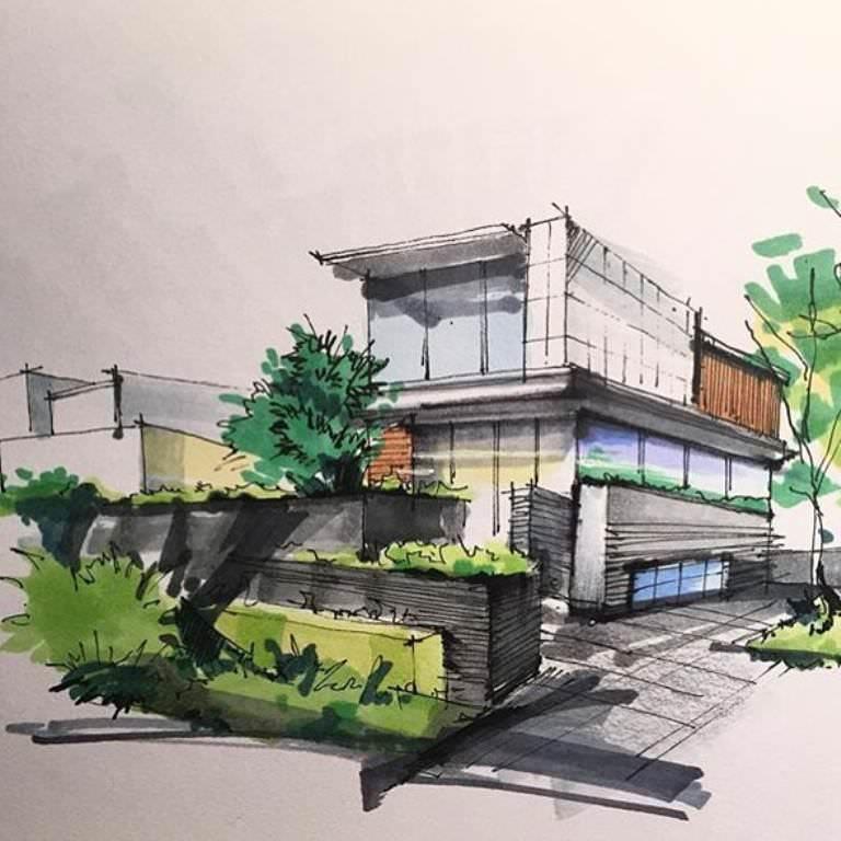 362建築設計師手稿作品