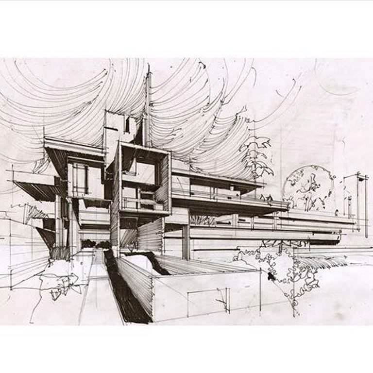 365建築設計師手稿作品