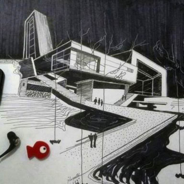 368建築設計師手稿作品