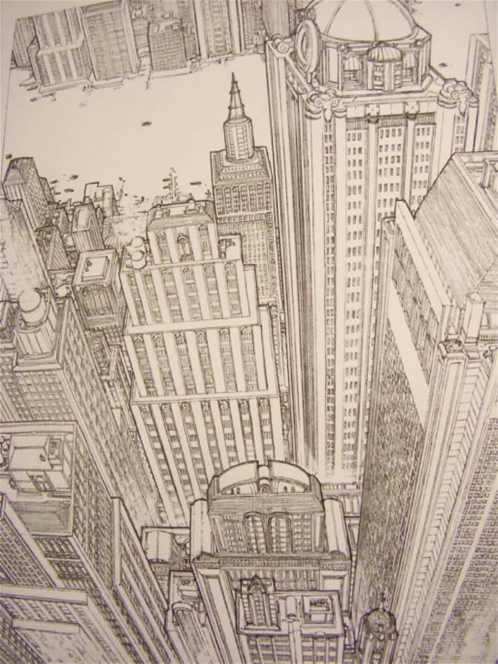 384建築設計師手稿作品