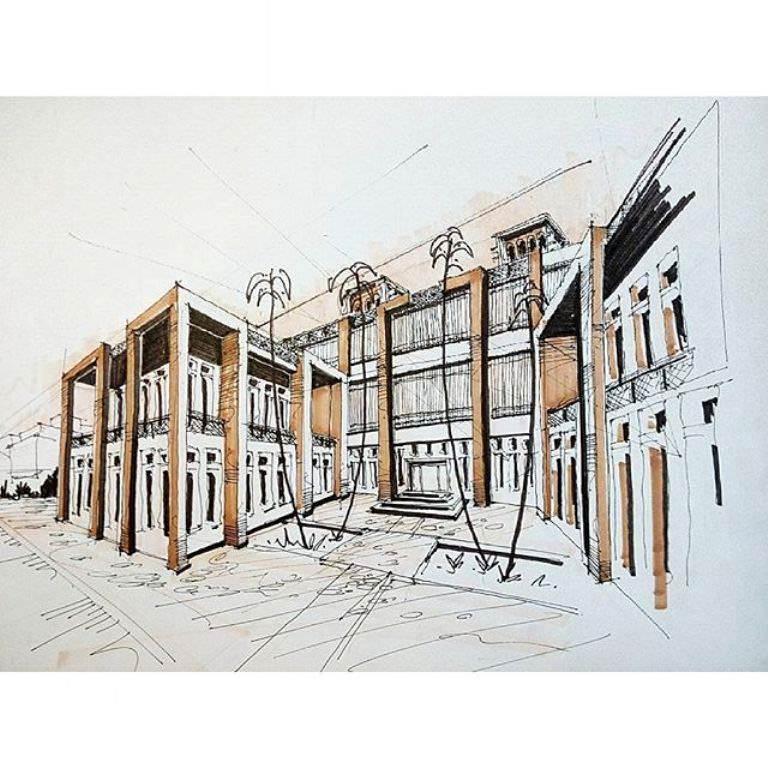 386建築設計師手稿作品