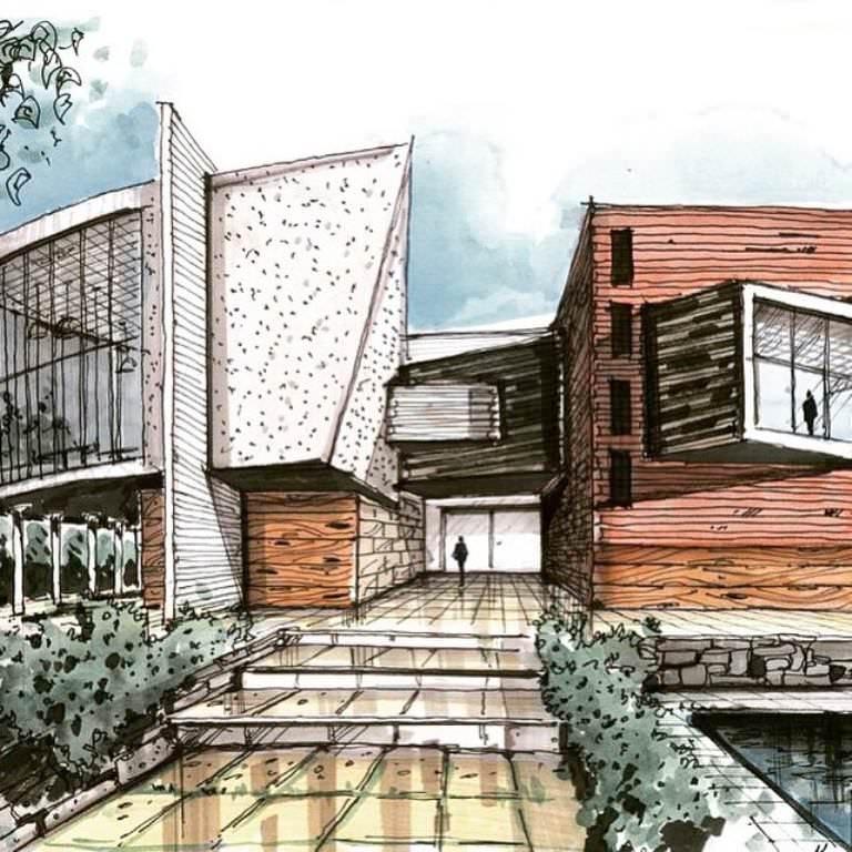 400建築設計師手稿作品