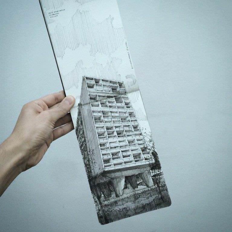 405建築設計師手稿作品