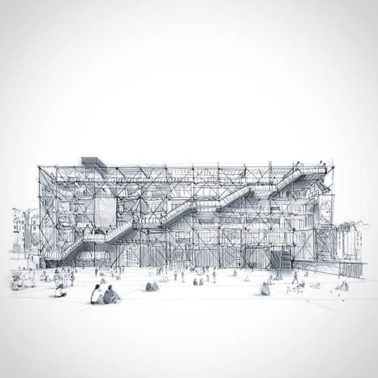412建築設計師手稿作品