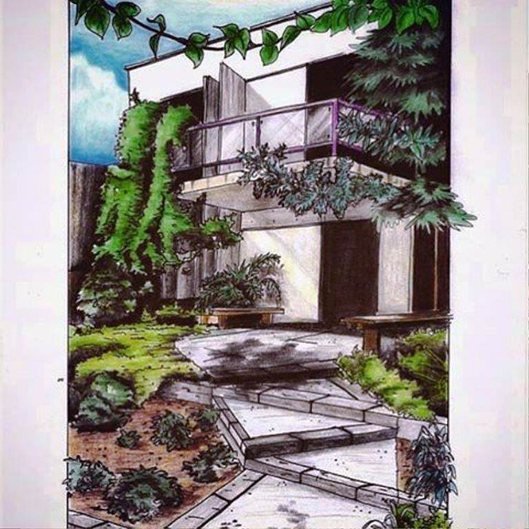 429建築設計師手稿作品