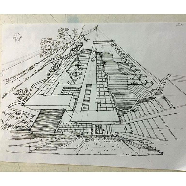 467建築設計師手稿作品