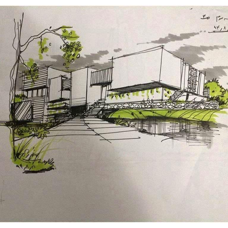 468建築設計師手稿作品