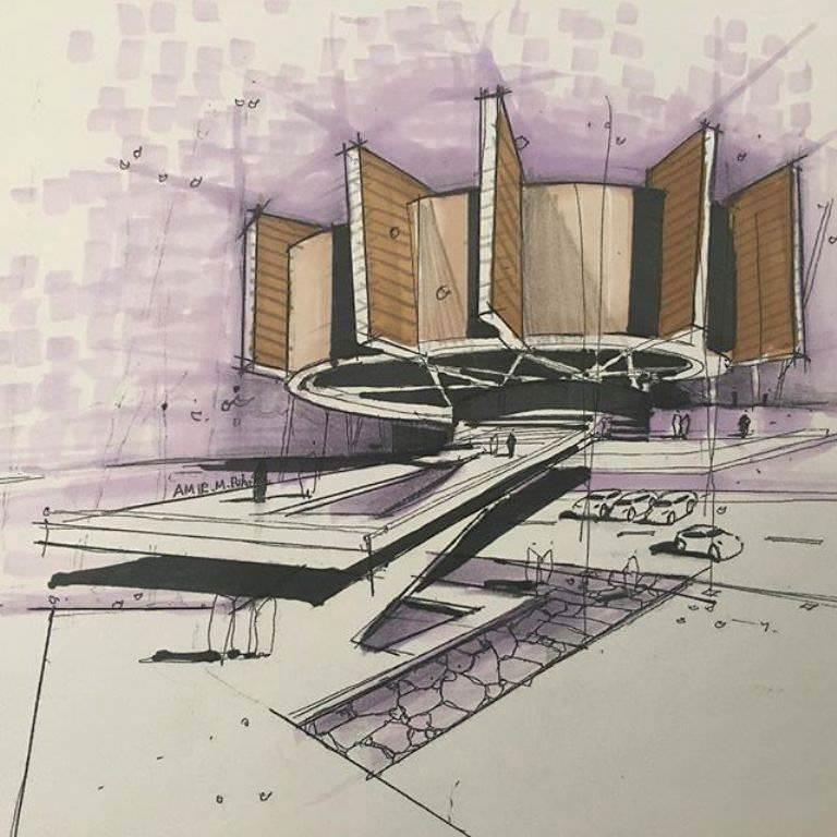 480建築設計師手稿作品