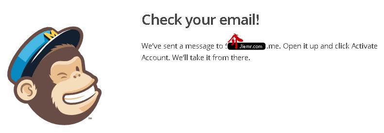 mailchimp_註冊資料填寫完成