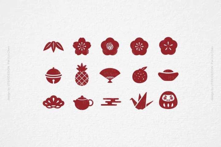 免費設計素材-台灣設計師分享的免費年節 icon下載