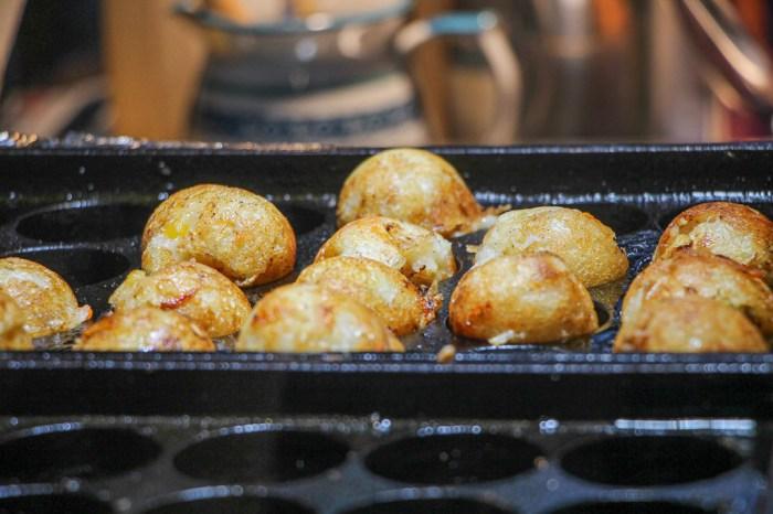 台中烏日,樂菇燒~蔬食版章魚燒小丸子。