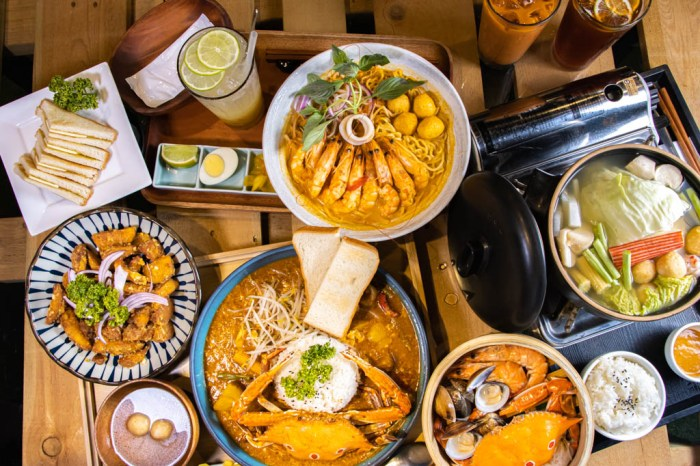 彰化員林,南洋風味食堂饗料理,各式鮮味任你選,辣螃蟹蛋飯、剝殼蝦娘惹叻沙麵與香茅海鮮蒸鍋就是要你方便吃。