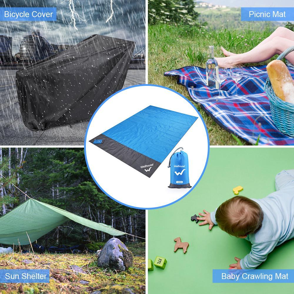 waterproof beach blanket outdoor portable picnic mat camping ground mat