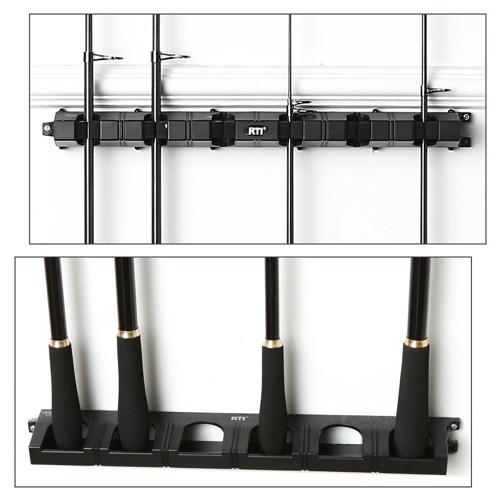 wall mounted fishing rod rack for 6 fishing rods fishing pole storage rack