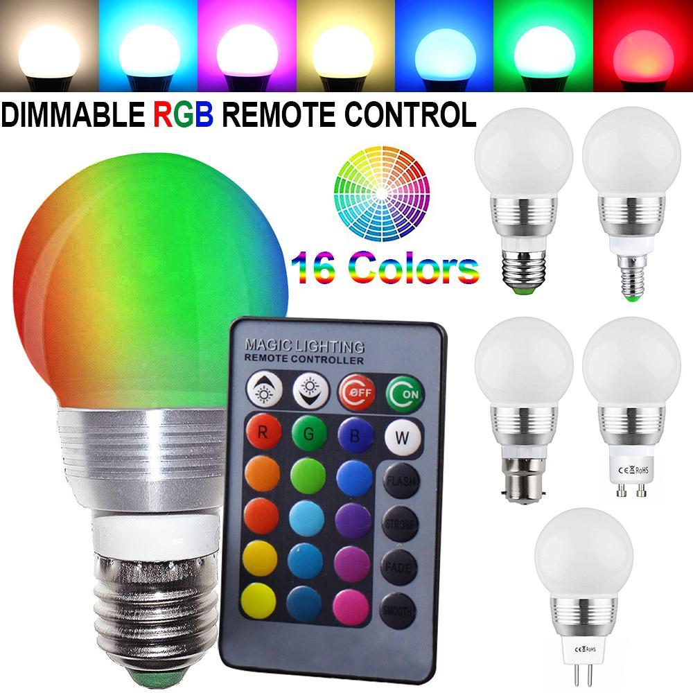 rgb led bulb remote control led lamp magic holiday rgb lighting 16 colors energy saving retro light