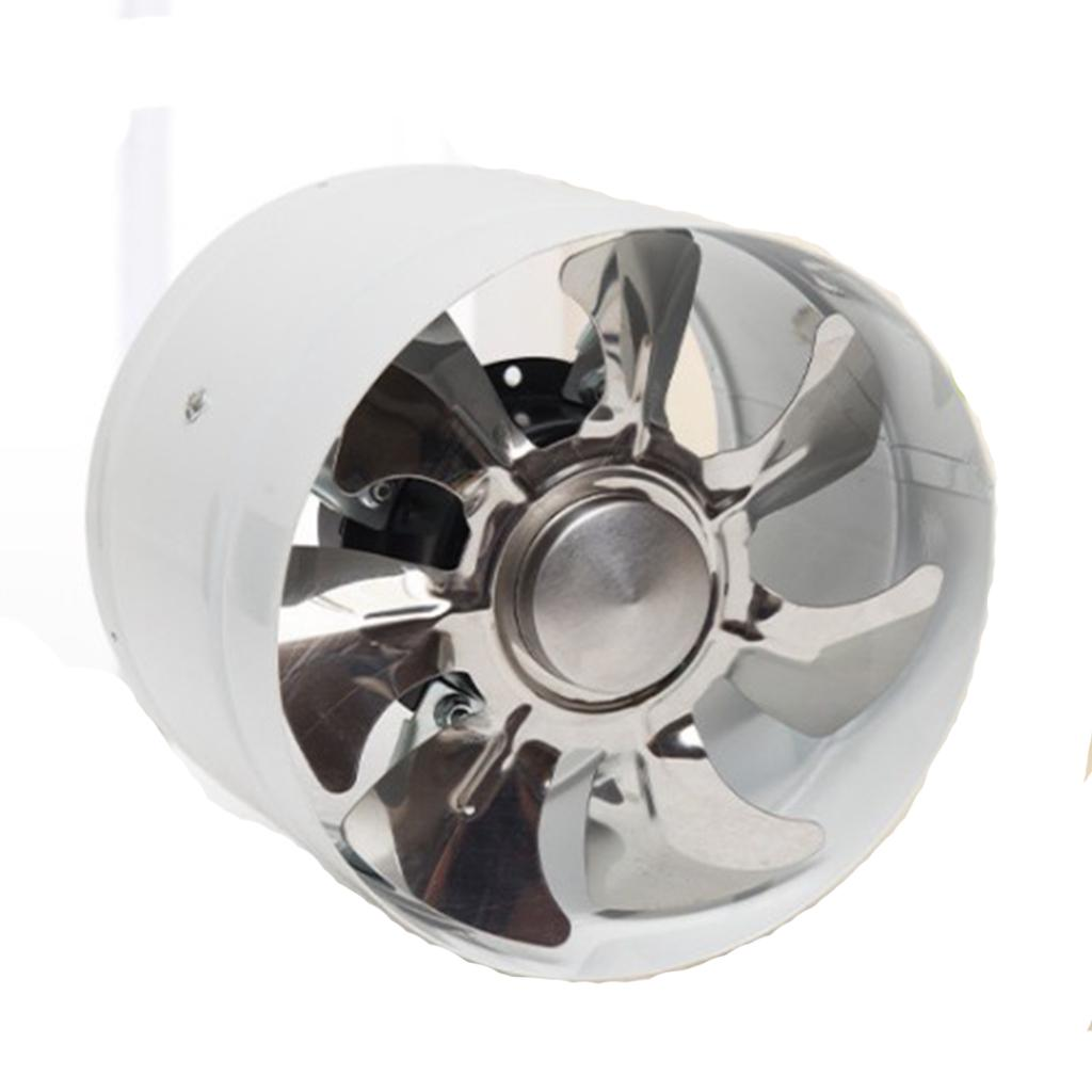 6 inch 150mm inline duct booster fan ventilation exhaust air blower white